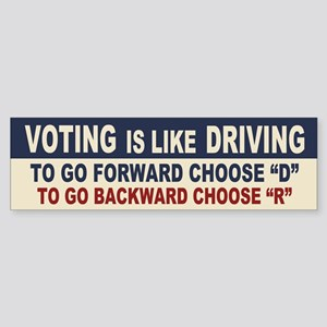 Voting Like Driving Sticker (Bumper)